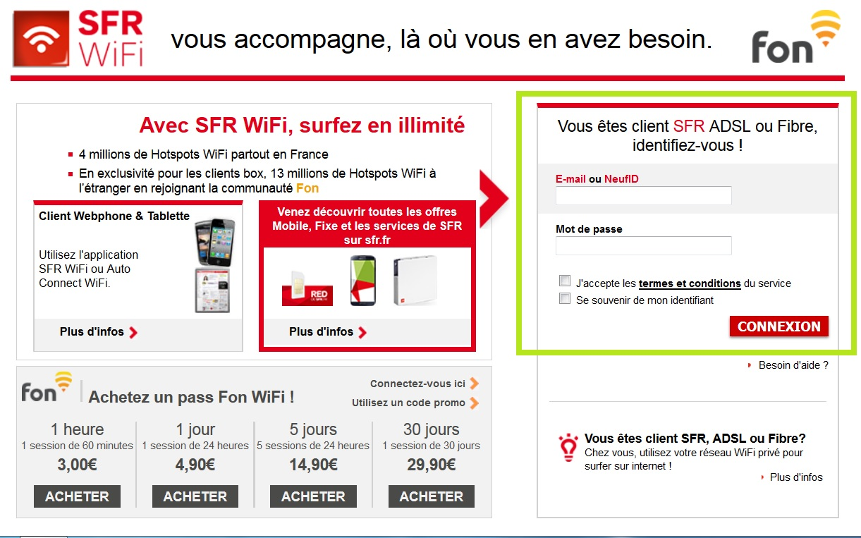 sfr wifi fon pour pc