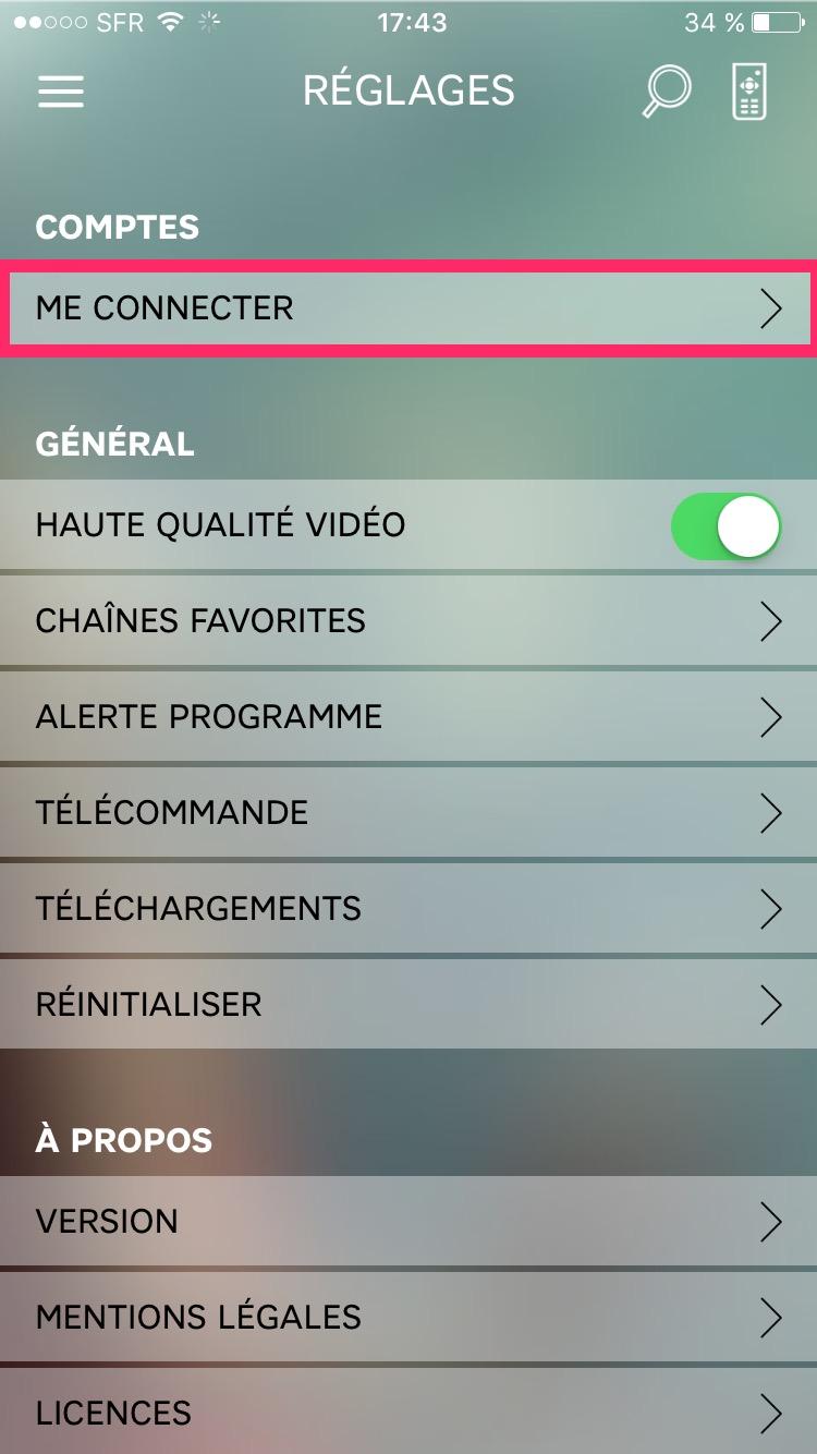 Regarder toutes les chaînes du bouquet SFR TV depuis votre tablette