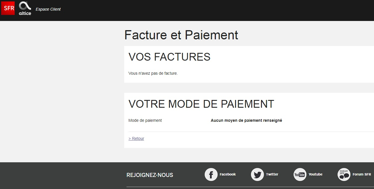 Resolu Impossible D Acceder A Mes Factures Le Forum Sfr 1974210