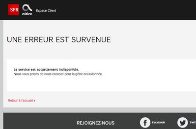 Espace Client Inaccessible Le Forum Sfr 1978058