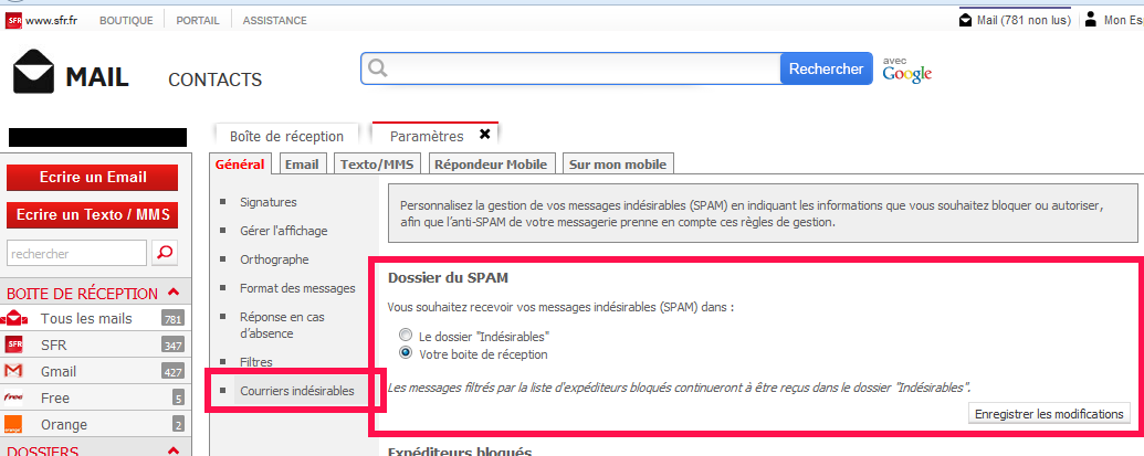 activer messagerie sfr