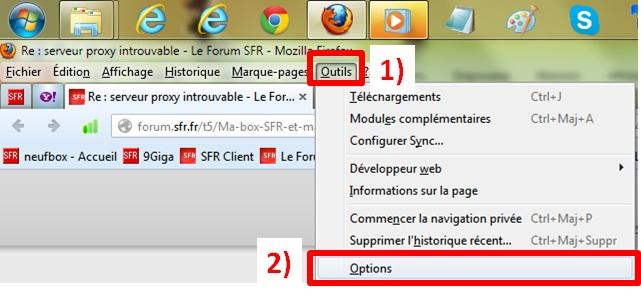 Serveur Proxy Introuvable Le Forum Sfr 86862