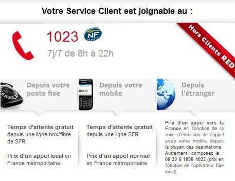IMPOSSIBLE DE JOINDRE LE SERVICE RESILIATION