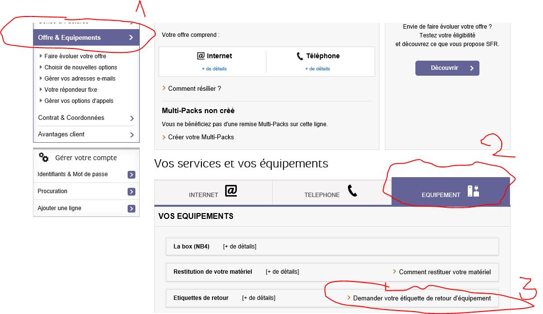 Resolu Etiquettes Pour Renvoi De Materiel Le Forum Sfr 1514724